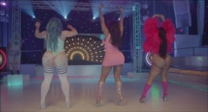 "A scene from Eric Wareheim's video the song ""Bubble Butt"" by Major Lazer"